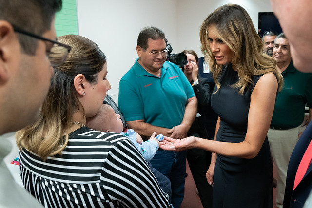 Melania Trump with Victims of El Paso Shooting incident
