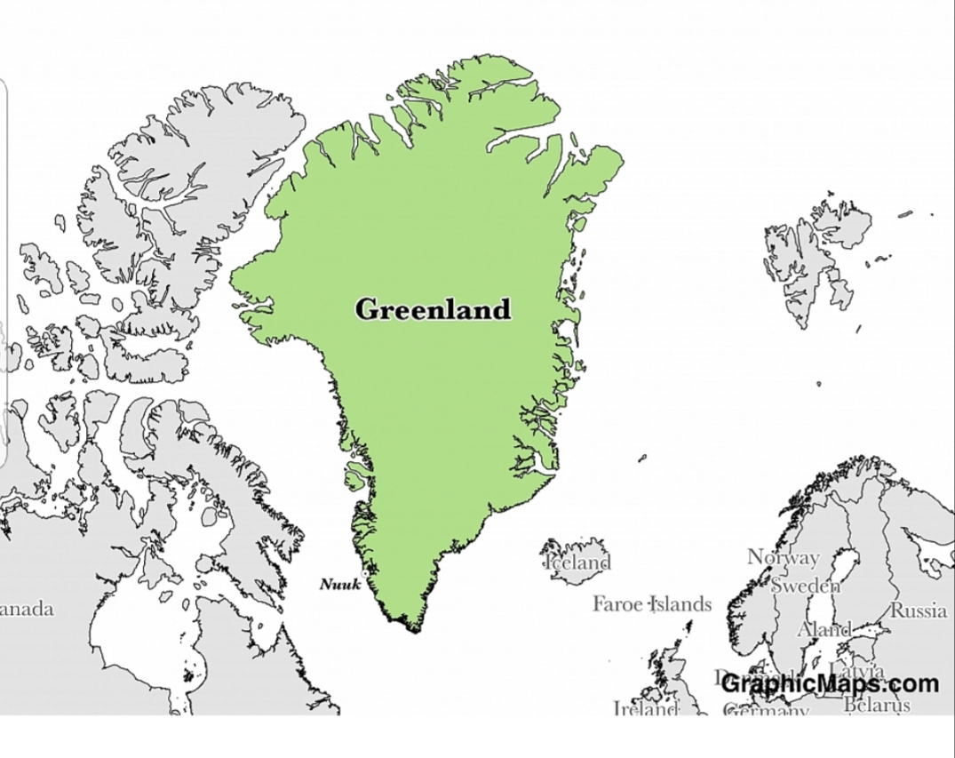 Greenland the Artic Island, that President Trump proposes to purchase from Danemark