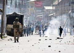 Police shelling in Kashmir