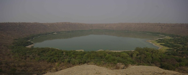 56000-year-old lake turned red
