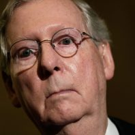 """Donald Trump Attacks """"Dour"""" Leader Mitch McConnell"""