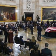 Biden and members of Congress pay tribute to a slain Capitol Police officer